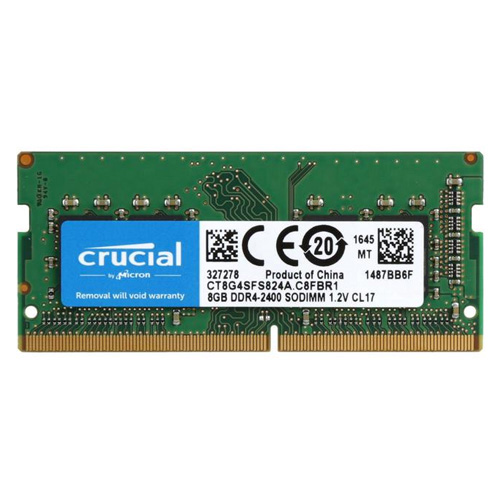CRUCIAL 8GB 2400Mhz DDR4 CL17 Notebook Ram CT8G4SFS824A