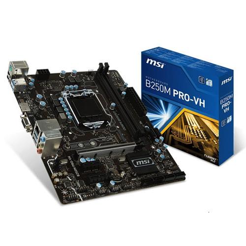 MSI INTEL B250M PRO-VH B250 DDR4 2400 VGA GLAN 1151P-7 M.2 SATA