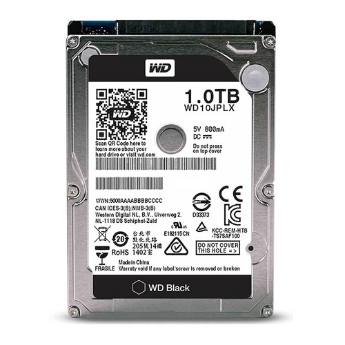 WD 2.5 Black 1TB 7200 RPM 32MB SATA3 NOTEBOOK HDD WD10JPLX