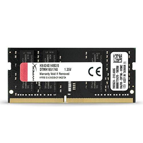 KINGSTON Hyperx 8GB 2400Mhz DDR4 CL14 Notebook Ram HX424S14IB2/8