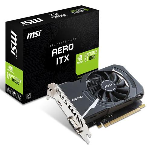 MSI Nvidia 2GB GT1030 AERO ITX 2G OC GDDR5 64 Bit HDMI DP
