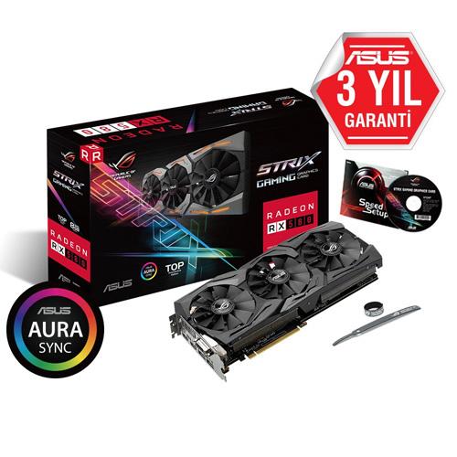ASUS AMD 8GB RX 580 GDDR5 ROG-STRIX-RX580-T8G-GAMING 2xHDMI DVI-D 2xDP