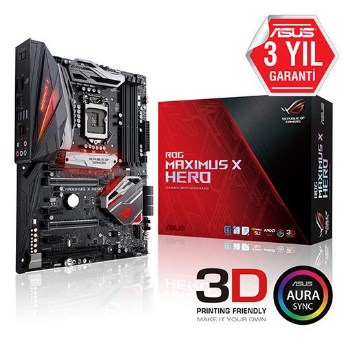 ASUS INTEL ROG MAXIMUS X HERO Z370 DDR4 4133 VGA GLAN 1151p-8 M.2 SATA USB3.1