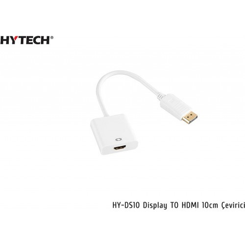Hytech HY-DS10 Display Port To HDMI Çevirici 20 cm