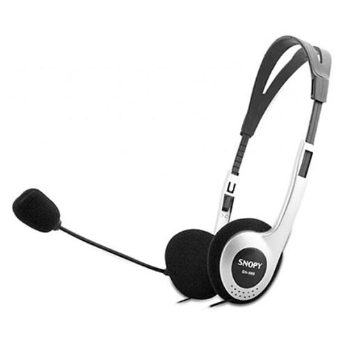 SNOPY SN-988 Mikrofonlu Kulaklık Siyah/Gümüş