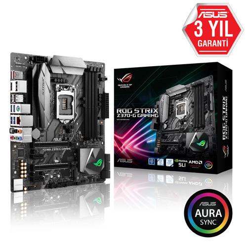 ASUS INTEL ROG STRIX Z370-G GAMING Z370 DDR4 4000 VGA GLAN 1151p-8 M.2 SATA USB3.1