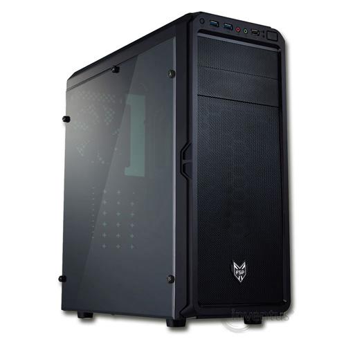 FSP CMT110A PSU Yok Siyah Pencereli Mid Tower Gaming Kasa
