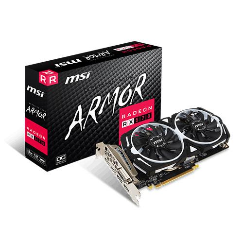 MSI AMD 8GB RX 570 ARMOR 8G OC GDDR5 256 Bit