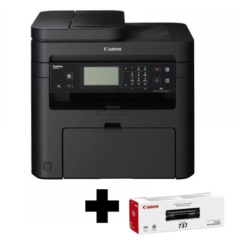 CANON LaserJet MF237W + 2 x TONER BUNDLE Mono A4 Yazıcı Fotokopi Tarayıcı Fax 256MB Ram 23 ppm S/B USB 2.0, Network, Wi-