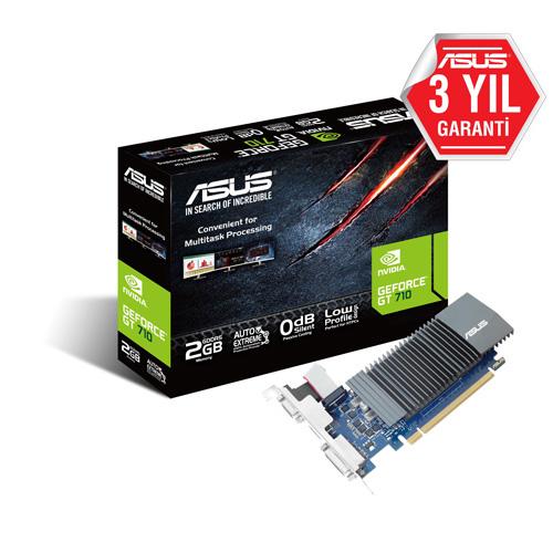 ASUS Nvidia 2GB GT710 LOW PROFILE GDDR5 64 Bit GT710-SL-2GD5-BRK HDMI DVI