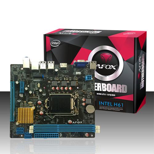 AFOX INTEL IH61-MA5 H61 DDR3 1600 VGA HDMI LAN 1155p Core i3, i5, i7