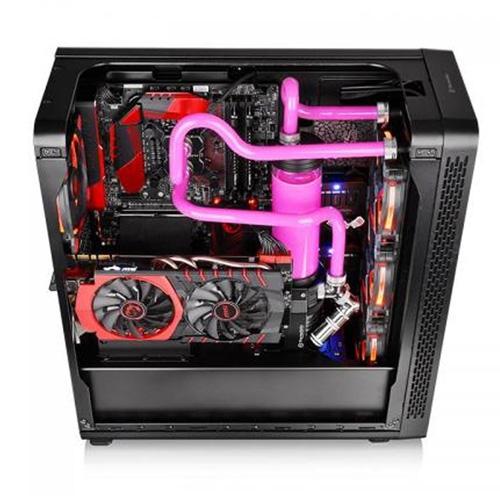 THERMALTAKE VIEW 27 CA-3G7-60M1WE-00 600W 80+ Mid Tower Gaming Kasa 4X120MM Siyah Panoramik Pencereli