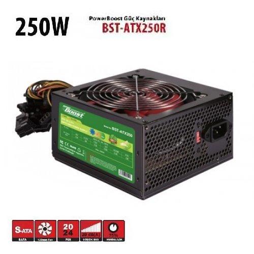 BOOST BST-ATX250R 250W Atx Power Supply 12 Cm Kırmızı Fan Kutu + Kablolu