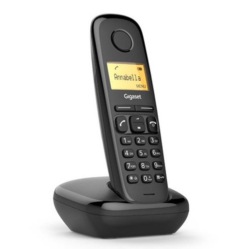 GIGASET A170 Lcd Ekran Dect Telefon Black