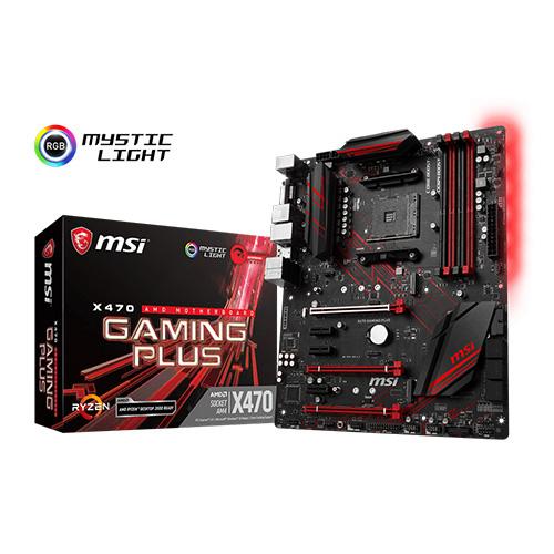 MSI AMD X470 GAMING PLUS X470 DDR4 3466 DVI HDMI GLAN AM4 M.2 USB3.1 ATX