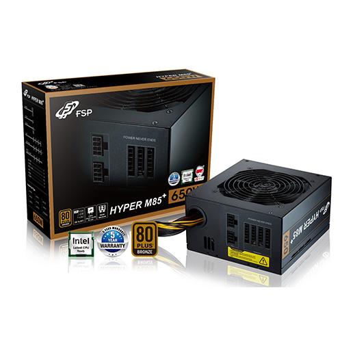 FSP Hyper M85+ 650W 80+ Bronze Power Supply 12 Cm Fan Yarı Modüler PSU