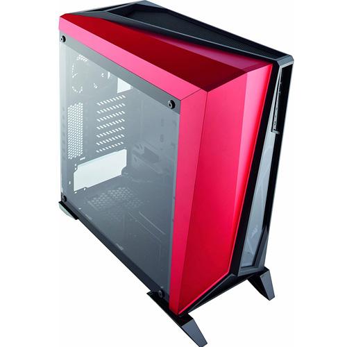 CORSAIR Carbide Serisi SPEC-OMEGA CC-9011120-WW PSU Yok Mid Tower Gaming Kasa Siyah/Kırmızı Temperli