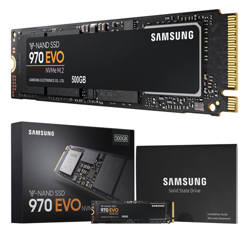 SAMSUNG 970 Evo 500GB SSD M.2 PCIE 3200/1800 MZ-V7E500BW