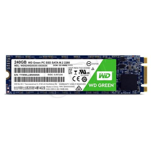 WD GREEN 240GB SSD M.2 545-465MB/s WDS240G2G0B