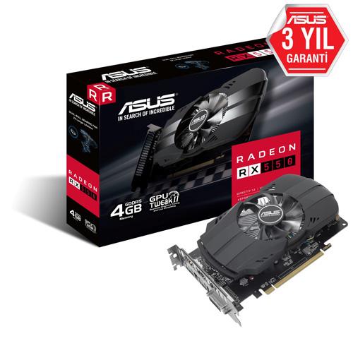 ASUS AMD 4GB RX 550 GDDR5 128 Bit PH-RX550-4G-M7 HDMI DVI-D