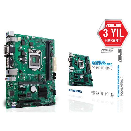 ASUS INTEL PRIME H310M-C H310 DDR4 2666 VGA GLAN 1151p-8 (LPT + COM Port)
