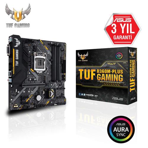 ASUS INTEL TUF B360M-PLUS GAMING B360 DDR4 2666 VGA GLAN 1151p-8 M.2 SATA USB3.1