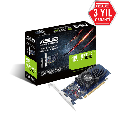 ASUS Nvidia 2GB GT1030 GDDR5 64 Bit GT1030-2G-BRK HDMI DP LOW PROFILE (BRACKET)
