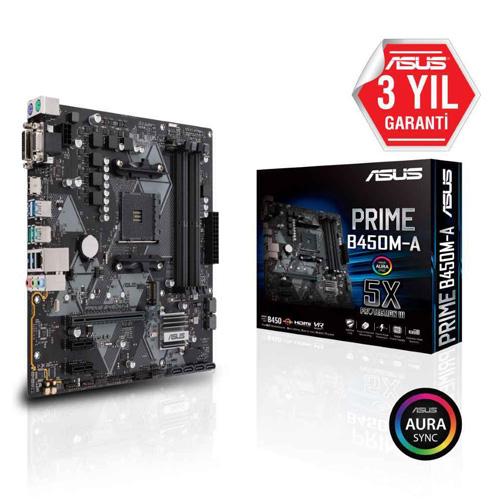 ASUS AMD PRIME B450M-A B450 DDR4 3200 HDMI GLAN AM4 M.2 SATA USB3.1
