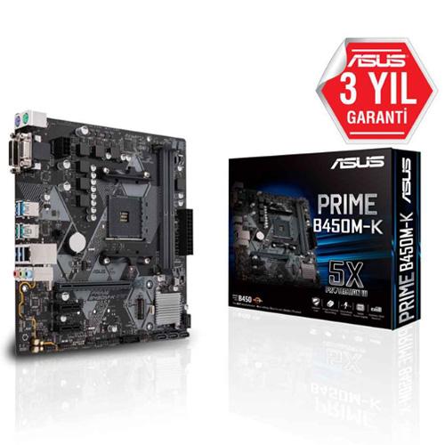 ASUS AMD PRIME B450M-K B450 DDR4 4400(OC) DVI-D VGA GLAN AM4 M.2 SATA USB3.1