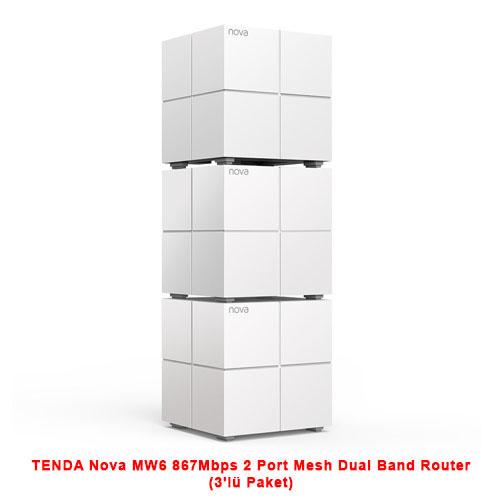 TENDA Nova MW6 867Mbps 2 Port Mesh Dual Band Router (3lü Paket)