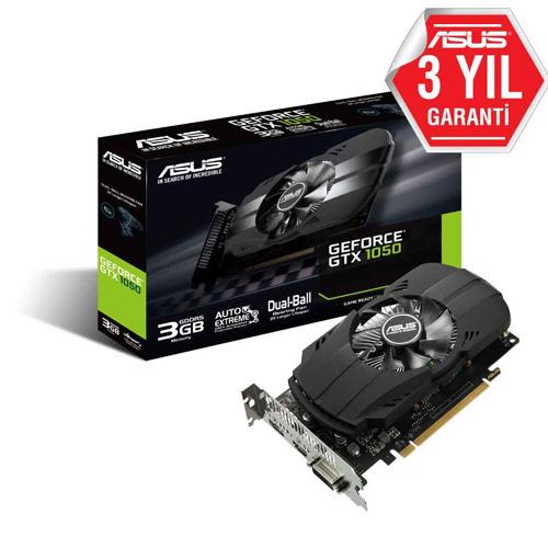 ASUS Nvidia 3GB GTX1050 GDDR5 64 Bit PH-GTX1050-3G HDMI DVI DP