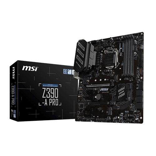 MSI INTEL Z390-A PRO Z390 DDR4 4400 GLAN 1151p-8 M.2 USB3.1 ATX