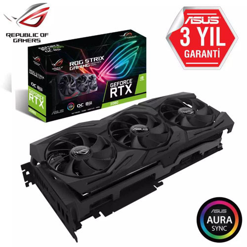 ASUS Nvidia 8GB RTX 2080 GDDR6 256 Bit ROG-STRIX-RTX2080-O8G-GAMING 2*HDMI 2*DVI 2*DP