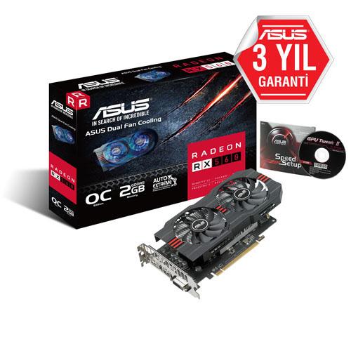 ASUS AMD 2GB RADEON RX560 OC GDDR5 128 Bit AREZ-RX560-O2G-EVO HDMI DVI-D DP