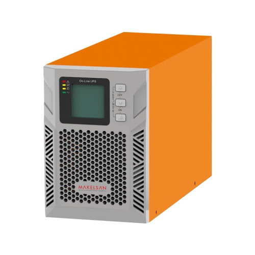 MAKELSAN MU01000N11DTV02 POWERPACK PLUS 1 KVA 1F/1F On Line ( 7-13 Dk. ) LCD 2x12V 9AH (+V.2)