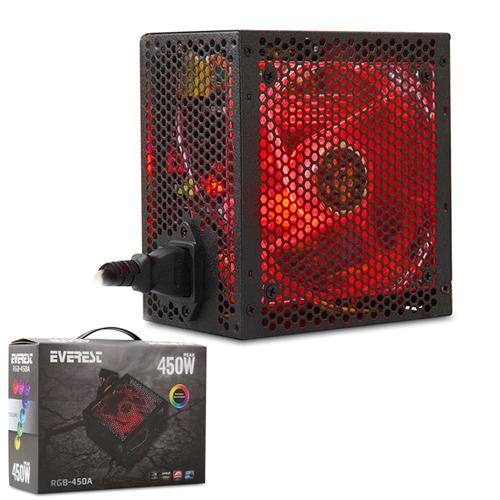 EVEREST RGB-450A REAL-400W 450W Power Supply 12cm RGB Led Fanlı
