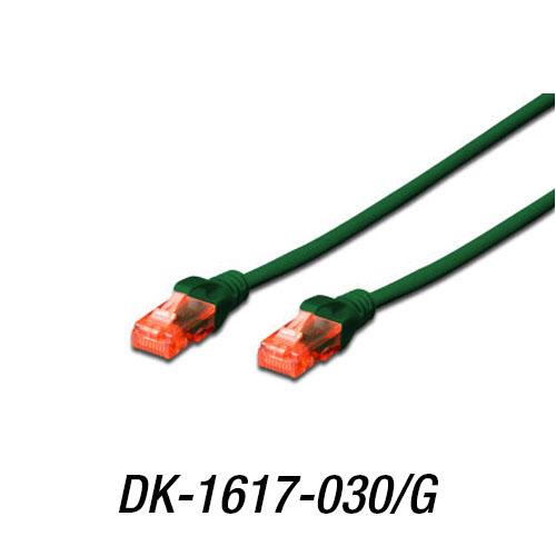 DIGITUS DK-1617-030/G Cat6 Utp ( 3 Metre ) AWG 26/7 Yeşil Patch Kablo LSZH