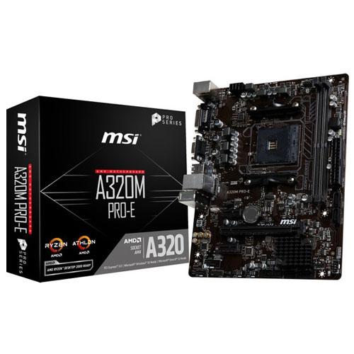 MSI AMD A320M PRO-M2 A320 DDR4 3200 VGA GLAN AM4 USB3.1