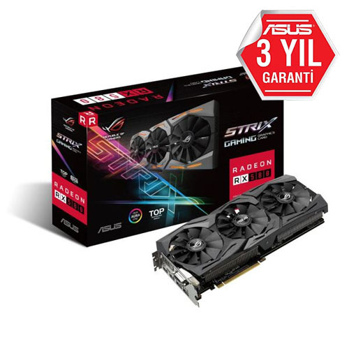 ASUS AMD 8GB RX 580 STRIX GAMING GDDR5 STRIX-RX580-8G-GAMING 2xHDMI DVI-D 2xDP