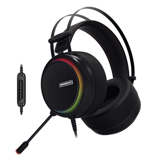 GAMEBOOSTER GB-H8 Ghost Shark 7.1 Surround Titreşimli Gaming Kulaklık RGB Ledli