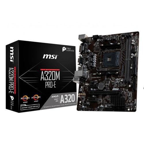 MSI AMD A320M PRO-E A320 DDR4 3200(OC) DVI VGA GLAN AM4 USB 3.1 mATX