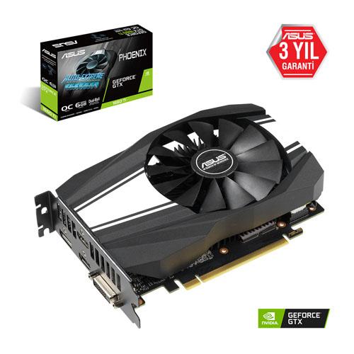ASUS Nvidia 6GB GTX1660TI GDDR6 192 Bit PH-GTX1660TI-O6G 2XHDMI DVI 2xDP