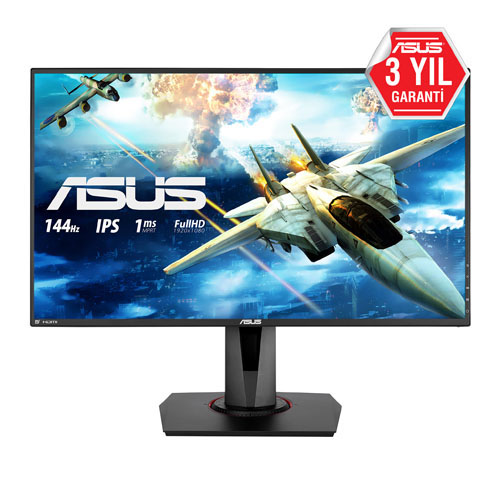 ASUS 27 VG279Q GAMING 1Ms 144Hz M.M HDMI+DP+D-DVI-D Full HD Ips Monitör Siyah