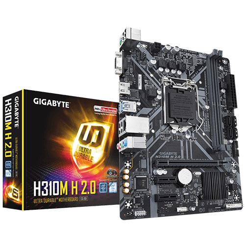 GIGABYTE INTEL H310M H 2.0 DDR4 2666 VGA GLAN 1151P (8-9. Nesil)