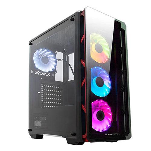 XIGMATEK ASTRO EN41466 650W 80+ Gaming Kasa Metalik Kırmızı 4x RGB Led Fan