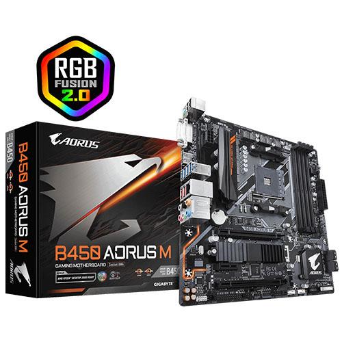 GIGABYTE AMD B450 AORUS M B450 DDR4 AM4