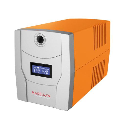 MAKELSAN LION X 1500 VA Line Interactive 5-15 Dk. Lcd Ekran 2x12V 9AH -