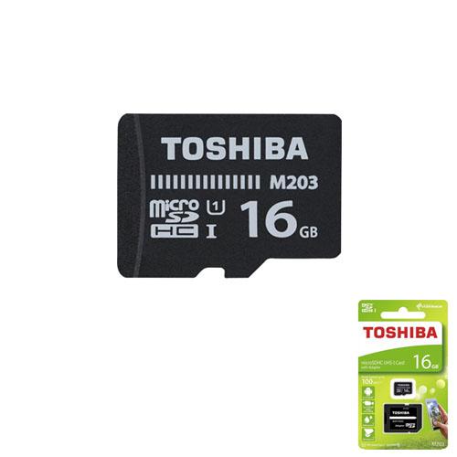 TOSHIBA 16GB Micro Sd SDHC UHS-1 C10 100MB/sn-M203 THN-M203K0160EA