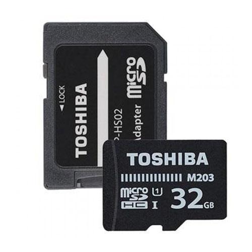 TOSHIBA 32GB Micro Sd SDHC UHS-1 C10 100MB/sn-M203 THN-M203K0320EA
