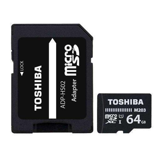 TOSHIBA 64GB Micro Sd SDHC UHS-1 C10 100MB/sn-M203 THN-M203K0640EA